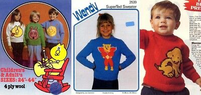 Collection Of Picture Knits For Children - Vintage Television Characters