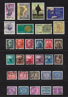 ITALY mixed collection No.20, incl Postage Due Segnatasse