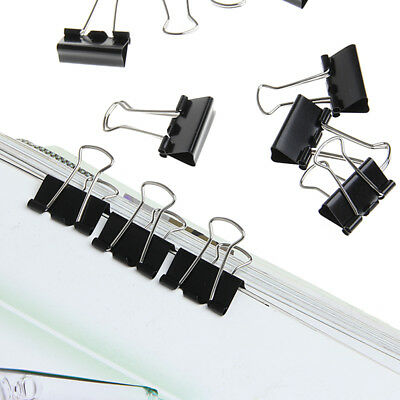48Pcs Black Metal Binder Clips File Paper Clip Office Supplies 25mm Width