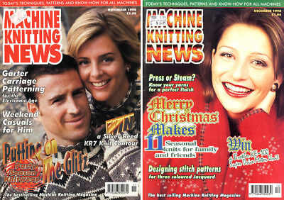Two Machine Knitting News Magazines - Evening Wear, Picture Knitting, Etc.