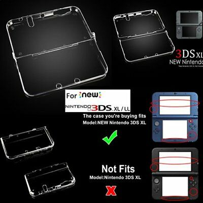 Clear Crystal Protective Hard Shell Case Cover F Nintendo New 3DS XL/3DS/2DS XL#