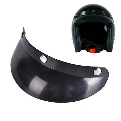 Universal 3Snap Visor Face Shield Lens For Helmets Open Face Helmet AccessoriesH