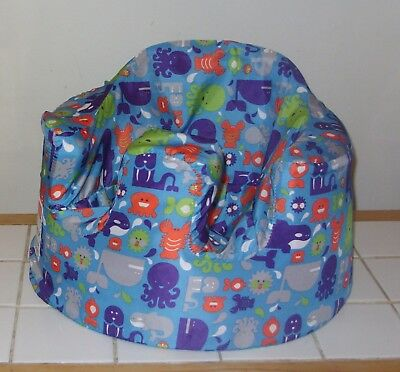 Bumbo blue Baby Seat & Genuine Bumbo Sea Creatures cover-Great for grandparents