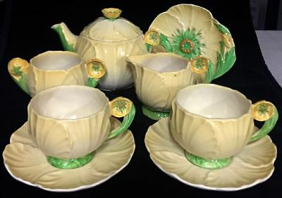 Carlton Ware Colourful Yellow Buttercup Tea For Two Set Rare