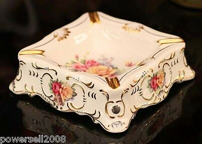 Luxurious Collection European Italy Ceramics Plated 24 Color Ceramics Ashtray