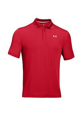 Under Armour Golf Performance Polo Shirt Red/White Extra Large