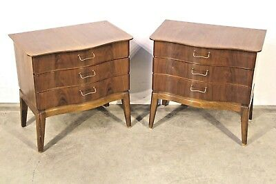 PAIR original Danish mid century bedside cabinets tables genuine 1950's designer