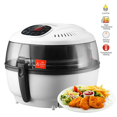 Electric Digital Air Fryer Oil-Less Griller Roaster Calorie Reducer 7L White