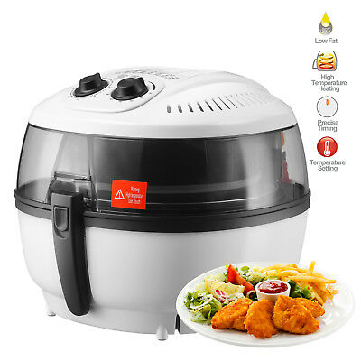 Electric Air Fryer Oil-Less Timer Temperature Control Roaster 7.4QT White