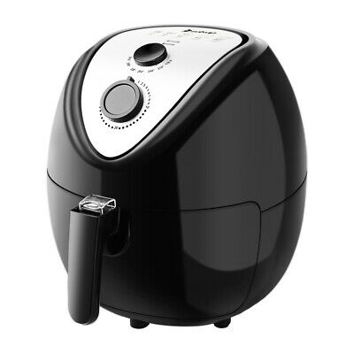 7.4QT Electric Air Fryer Digital Touch Screen Temperature Timer Control Red