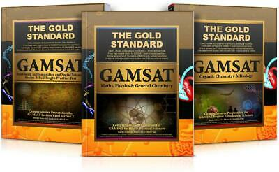 GAMSAT - Complete 3 Book Set by Gold Standard Media Hardcover Book Free Shipping