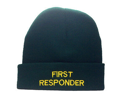 2 x Quality First Responder Green Woolly Hat  Ambulance Paramedic St Johns Medic