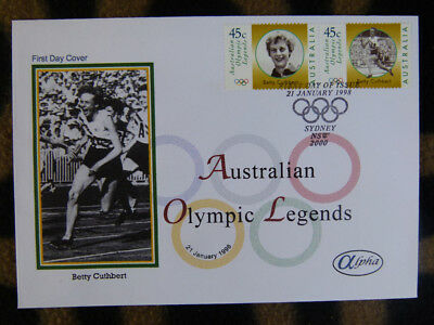 Scarce Alpha First Day Cover - 1998 Aus Olympic Legends Betty Cuthbert Stamps