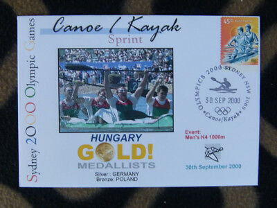 SYDNEY OLYMPICS GOLD MEDAL FIRST DAY COVER - MENS K4 1000m HUNGARY