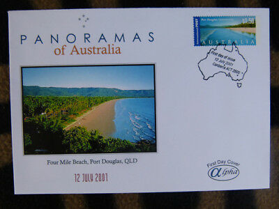 Scarce  Alpha First Day Cover - 2001 Panorama Of Australia, Four Mile Beach