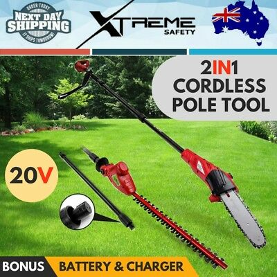 New 20V Lithium Battery Cordless Pole Chainsaw Electric Hedge Trimmer Baumr-AG