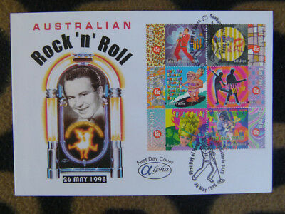 Scarce Alpha First Day Cover - 1998 Aus Rock'n'roll Block 6 Stamps #2