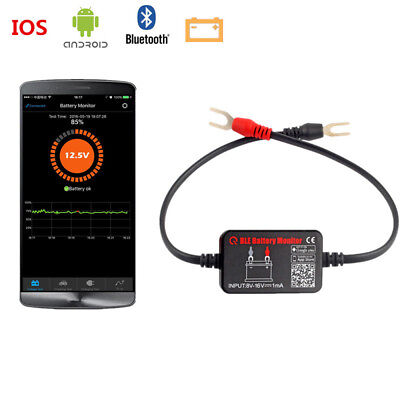 12V Bluetooth 4.0 Car BLE Battery Monitor Tester Analyzer for Android IOS iphone