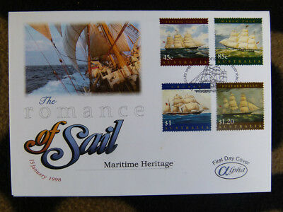 Scarce Alpha First Day Cover - 1998 Maritime Heritage Sailing Set 4 Stamps