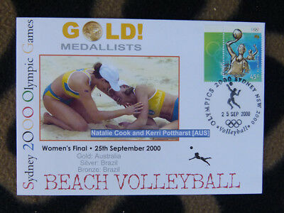 Sydney Olympics Gold Medal First Day Cover - Womens Beach Volleyball Australia