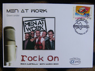 Scarce Alpha First Day Cover - 2001 Rock On, Men At Work Down Under #2