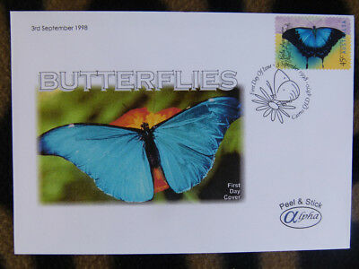 Scarce Alpha First Day Cover - 1998 Australian Butterflies, Ulysses Stamp