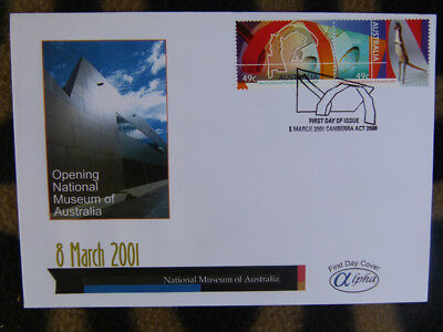 Scarce Alpha First Day Cover - 2001 National Museum Stamp Pair