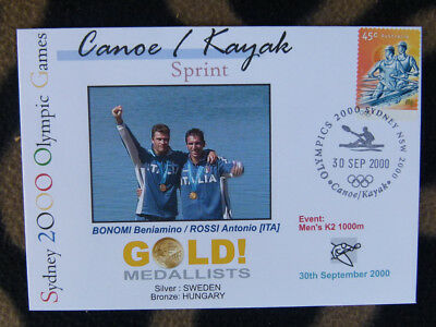 Sydney Olympics Gold Medal First Day Cover - Mens K2 1000M Italy