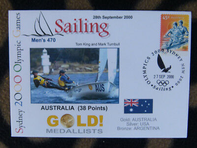 Sydney Olympics Gold Medal First Day Cover - Australia Mens 470 Sailing