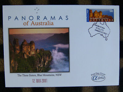 Scarce Alpha First Day Cover - 2001 Panorama Of Australia, Three Sisters