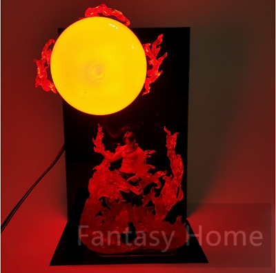 One Piece Figure Ace Fire Ball DIY Led Light Display Toy 15CM