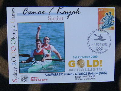 SYDNEY OLYMPICS GOLD MEDAL FIRST DAY COVER - MENS K2 500m HUNGARY