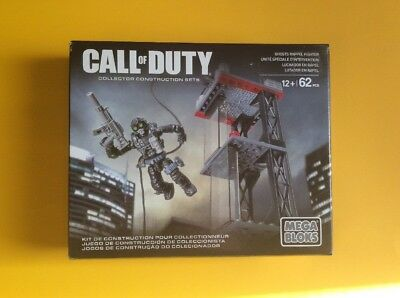 Mega Bloks Call Of Duty Ghost Rappel Fighter Collectors Construction Set