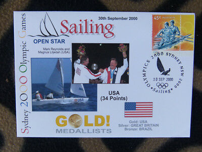 Sydney Olympics Gold Medal First Day Cover - U.s.a Open Star Sailing