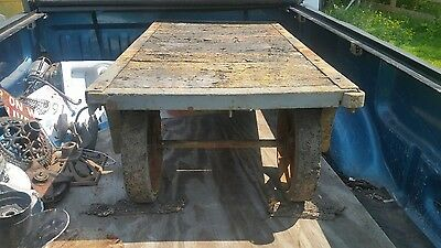 Vintage Industrial Fairbanks flatbed cart