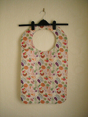 Adult Bibs in a Vegatable pattern material