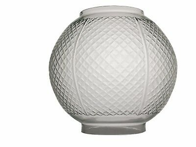 Hobnail Cut Oil Lamp Shade suitable for Double Wick Duplex Lamps