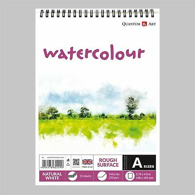 Watercolour Rough Surface Pad Drawing Artist Paper on Spiral Book - 220gsm
