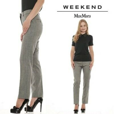 Weekend MaxMara OLINDO trousers classics chino wool blend made in Italy