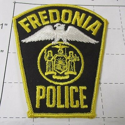 Old Fredonia Police Dept Fopd Fred Don Eagle Village Seal Vintage New York Patch