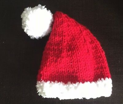 Hand Knitted BABY SANTA/CHRISTMAS ELF STYLE HAT 9-12 months