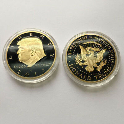 Us President Donald Trump Kim Jong Un Peace Gold Plated Challenge