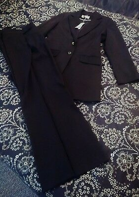 Ladies 🌲Tall Black Business Suit Single Breasted Jacket & Trousers 14L 33L