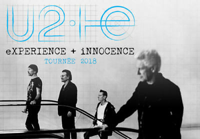 U2 Montreal Bell Centre June 6 2018 2 Tickets@$250 Section 107 ROW W