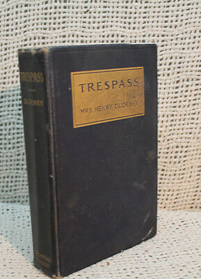 Trespass Mrs Henry Dudeney Rare Old Antique  First Edition Victorian Romance