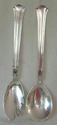 Cohr Denmark sterling silver large salad set fork spoon