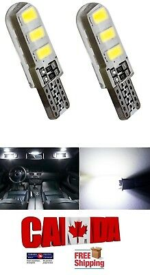 2x T10 194 168 White LED 6SMD 5W CANBUS ERROR FREE Silica Silicone Light Bulbs