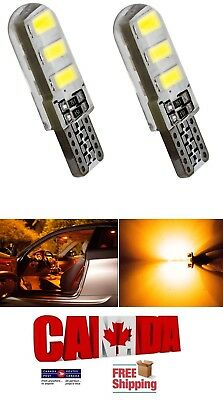2x T10 194 168 Amber Yellow LED 6SMD 5W CANBUS ERROR FREE Silicone Light Bulbs