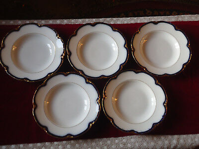 Antique Russian Imperial Porcelain Plates by Kornilov Brothers factory - 5 pcs.