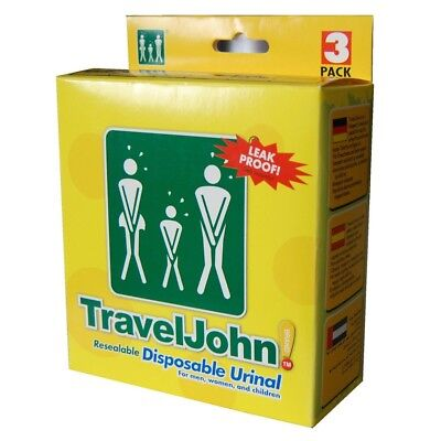 Travel John™ Disposable Urinals with LIQSORB® technology - Pack of 3